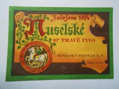 stará pivní sbírka DODATKY pivovar Praha Nusle D1 firma