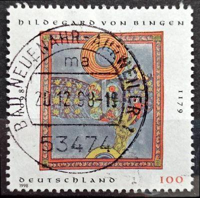 """DEUTSCHLAND: MiNr.1981 Hildegard's Vision """"Scivias"""" 100pf 1998"""