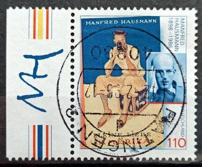 DEUTSCHLAND: MiNr.2012 Manfred Hausmann 110pf, LK 1998