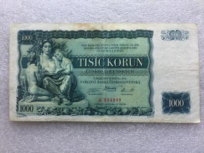 1000 KČS 1934 NEP SER H.VZACNA.
