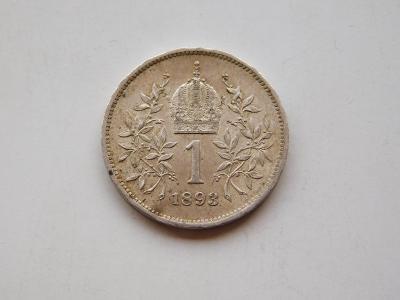 1 korona 1893 - krasny stav!!!