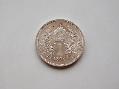 1 korona 1894 - krasny stav!!! 0/0 RL