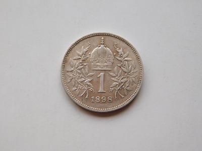 1 korona 1898 - vzacny rocnik, nadhery stav!!