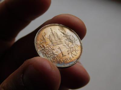 1 korona 1898 - vzacny rocnik, unikatny stav!! 0/0 RL - top minca