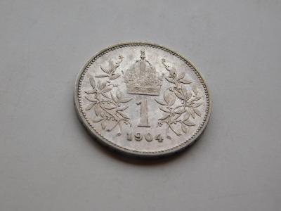 1 korona 1904 - vzacny rocnik, pekny stav