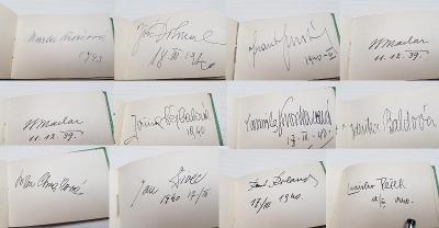 Prvorepublikový bloček se třiceti podpisy