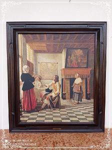 *** Starožitný obraz malovaný olejem na plátno - na zámku De hoog ***