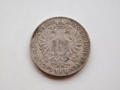 1 zlatnik 1858M -  velice vzacny rocnik !!! velmi pekny stav