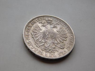 1 zlatnik 1858V -  velice vzacny rocnik !!! velmi pekny stav