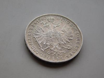 1 zlatnik 1860B - velmi vzacny rocnik !!! velmi pekny stav