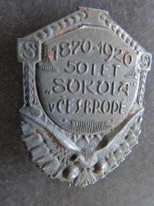 SOKOL: 50 LET SOKOLA  - ČESKÝ BROD 1920