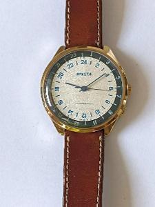 ! RAKETA náramkové hodinky 24h nikdy nošený TOP stav !