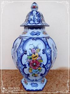 *** Stará porcelánová zdobená malovaná xxl dóza Portugal ***