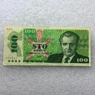 100 KČS 1989 NEP SER A 04.