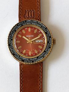 ! RAKETA WORLD TIME TOP stav nikdy nošených hodinek !