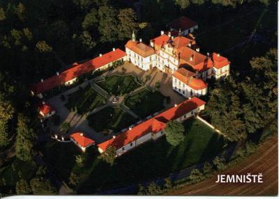 Jemniště (Benešov), zámek, letecký