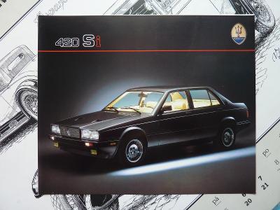 PROSPEKT - MASERATI 420 Si - 1988