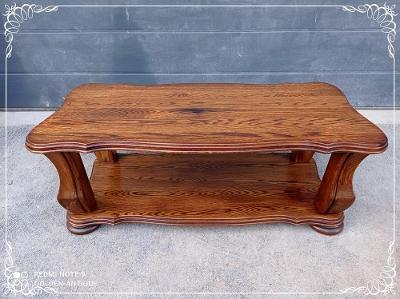 *** Starý masivní dřevěný zdobený rustikální konferenční stůl ***
