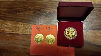 Zlatá pamětní mince ČNB Ludmila proof 10000Kč
