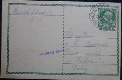 Celina (korespondenční lístek) z roku 1915