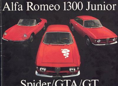 Alfa Romeo 1300 Junior Spider, GTA a GT