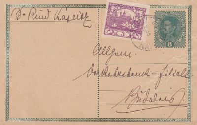Souběžná, dofr. Hradčany, Kaplice 24.3.1919 (Český Krumlov)-Budějovice