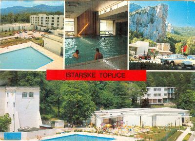 Jugoslávia. Chorvatsko, Istarské Toplice, prošlá se známkou