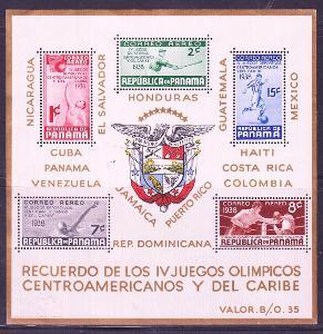 Panama 1938 ** šport komplet mi. bl. 1