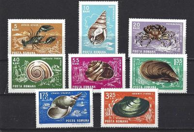 Rumunsko 1966 ** fauna komplet mi. 2544-2551