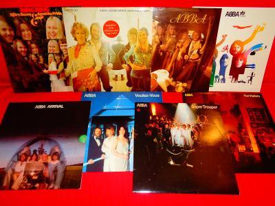 ABBA - 8LP,  vše orig. Sweden, v top stavu, více v popisu.