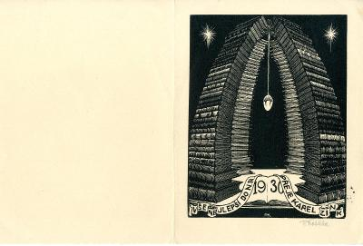 František Kobliha: P. F. 1930 Karel Zink (signováno; dvoulist)