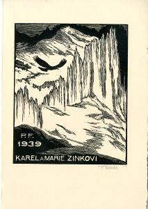 František Kobliha: P. F. 1939 Karel a Marie Zinkovi (signováno)