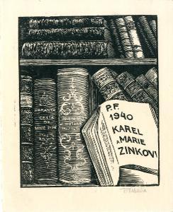 František Kobliha: P. F. 1940 Karel a Marie Zinkovi (signováno)