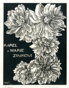 František Kobliha: P. F. 1943 Karel a Marie Zinkovi (signováno)