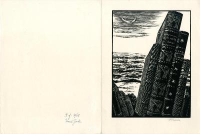 František Kobliha: P. F. 1968 Karel Zink (signováno; podpis Zinka)