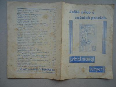 Šumperk - J.Vladimír Mangl - katalog školních pomůcek - nedatováno