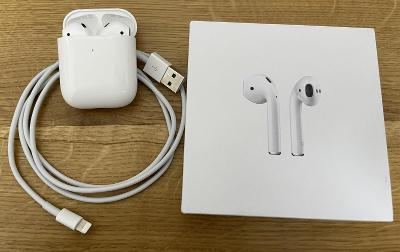 Airpods, bezdrátové sluchátka, bezdrátové nabíjení, light