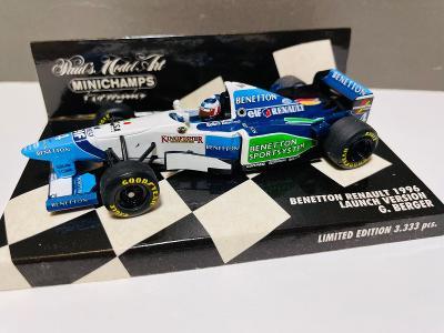 Model Formule F1 Benetton Renault 1996 Berger Limited 3333 Minichamps