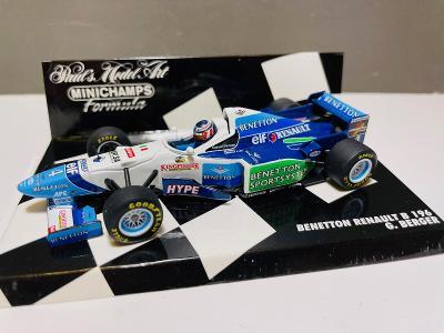 Model Formule F1 Benetton Renault 1996 Berger (Minichamps IXO Spark