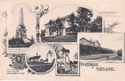 VÁCLAVICE - NÁDRAŽÍ - POMNÍK 1866 - 22-JW80