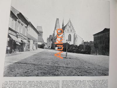 Rakovník náměstí a Brno 1898