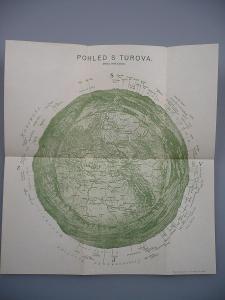 TUROV - Pohled s Turova - Kreslil Petr Raichl - Teplické skály,Náchod