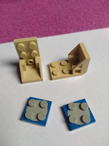 Lego otočné destičky - kostičky + Space židličky k postavičkám