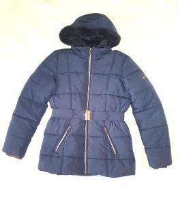Zimní bunda C&A vel 164 tm. modrá dívčí nová