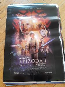 orig. filmovy plakat z kina A1 STAR WARS HVEZDNE VALKY EPIZODA 1