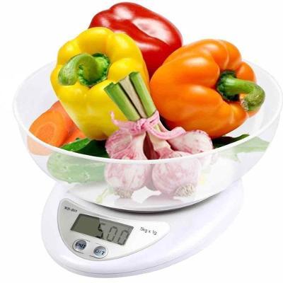 Digitální kuchyňská váha a lcd s misou 5kg 1g 0100
