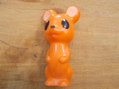 Gumová pískací hračka myška   15 cm - od 1kč