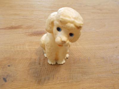 Gumová pískací hračka pes  10 cm - od 1kč