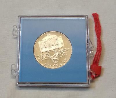 Vzácná Ag 50 Kčs 1991 Piešťany PROOF, pouze 2261 Ks R !
