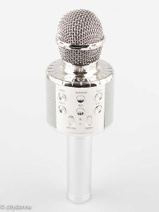 Dětský karaoke mikrofon / s reproduktorem a efekt/ Bluetooth/ od 1Kč!